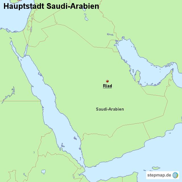 hauptstadt saudi arabien von l nderkarte landkarte f r. Black Bedroom Furniture Sets. Home Design Ideas