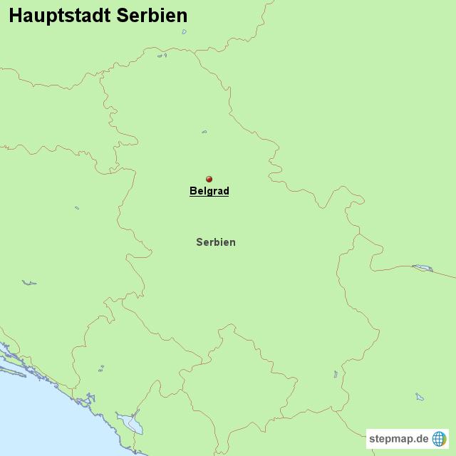 hauptstadt serbien von l nderkarte landkarte f r serbien. Black Bedroom Furniture Sets. Home Design Ideas