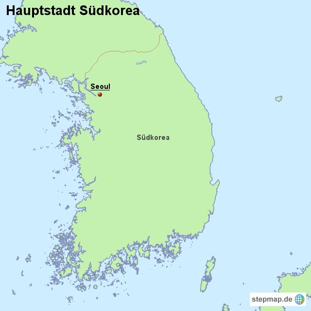 hauptstadt s dkorea von l nderkarte landkarte f r s dkorea