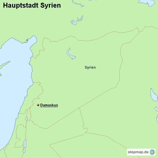 hauptstadt syrien von l nderkarte landkarte f r syrien. Black Bedroom Furniture Sets. Home Design Ideas