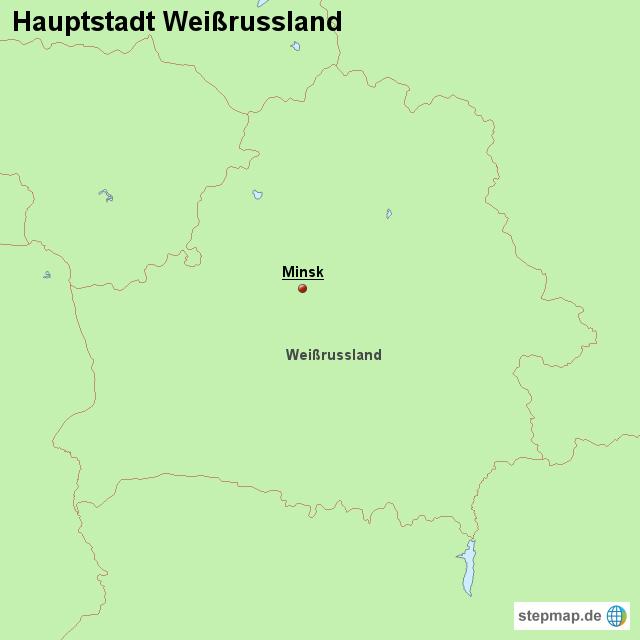 hauptstadt wei russland von l nderkarte landkarte f r. Black Bedroom Furniture Sets. Home Design Ideas