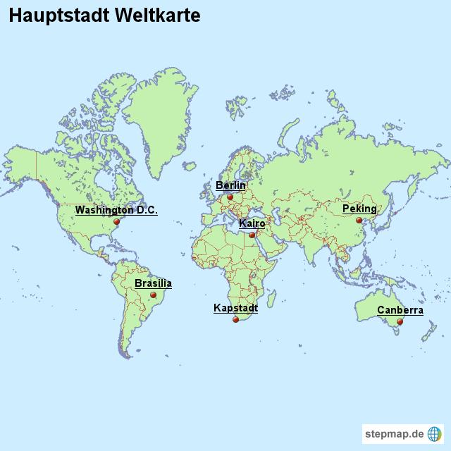 Hauptstadt weltkarte von l nderkarte landkarte f r die welt for Weltkarte mit fotos