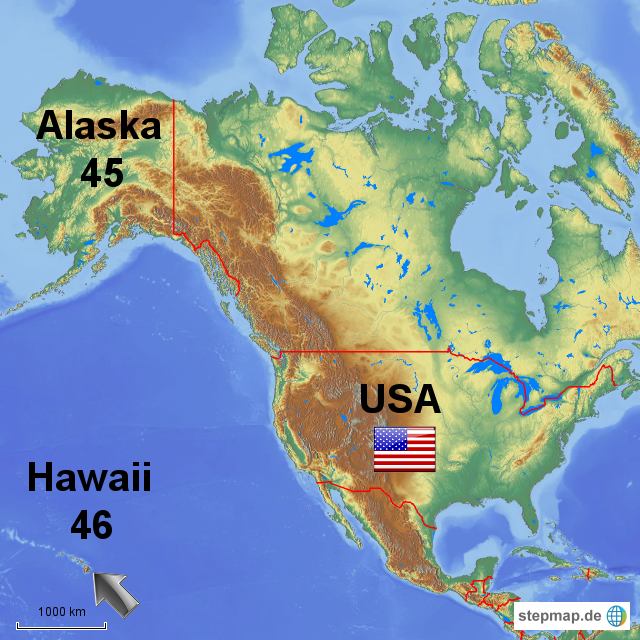 Hawaii Karte World Map Weltkarte Peta Dunia Mapa Del