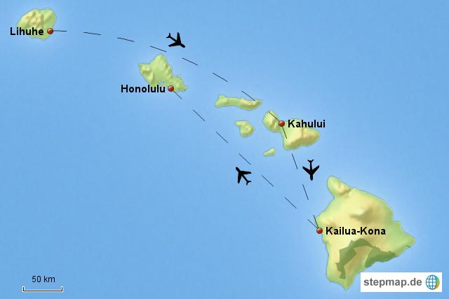 hawaii flugroute von ffabienne landkarte f r deutschland. Black Bedroom Furniture Sets. Home Design Ideas