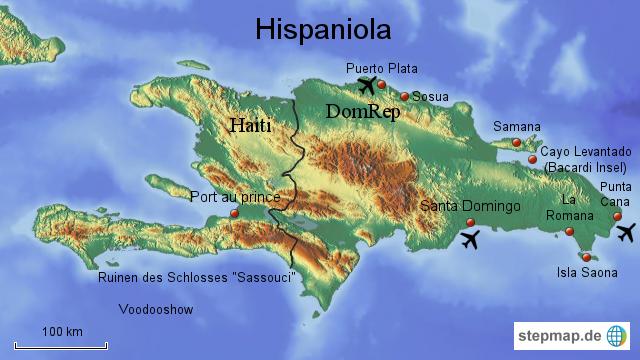 Map Of Island Hispaniola