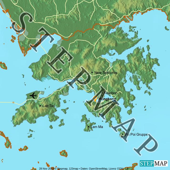 Landkarte: Hongkong