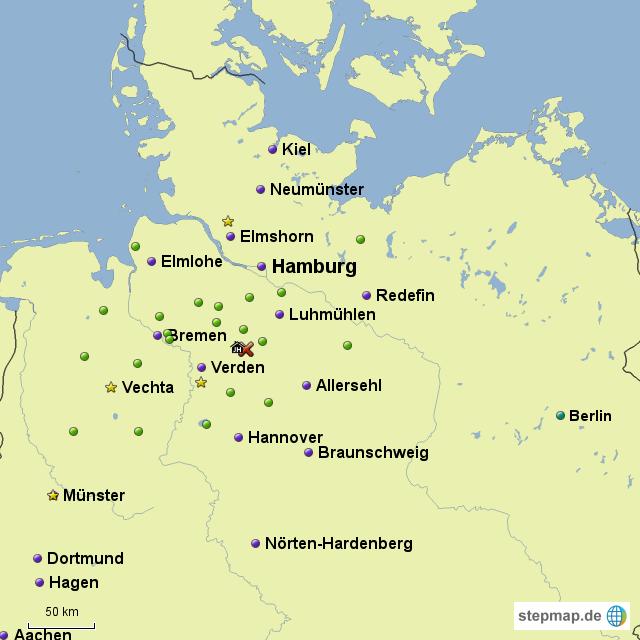 Horse Map II Germany von Duebbi - Landkarte für Deutschland
