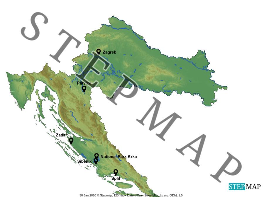 Landkarte: HR