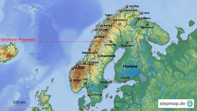 Karte Norwegen Hurtigruten.Hurtigruten Von Ulrichjohn Landkarte Für Norwegen