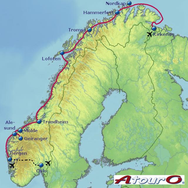 Karte Norwegen Hurtigruten.Karte Norwegen Hurtigruten Hanzeontwerpfabriek