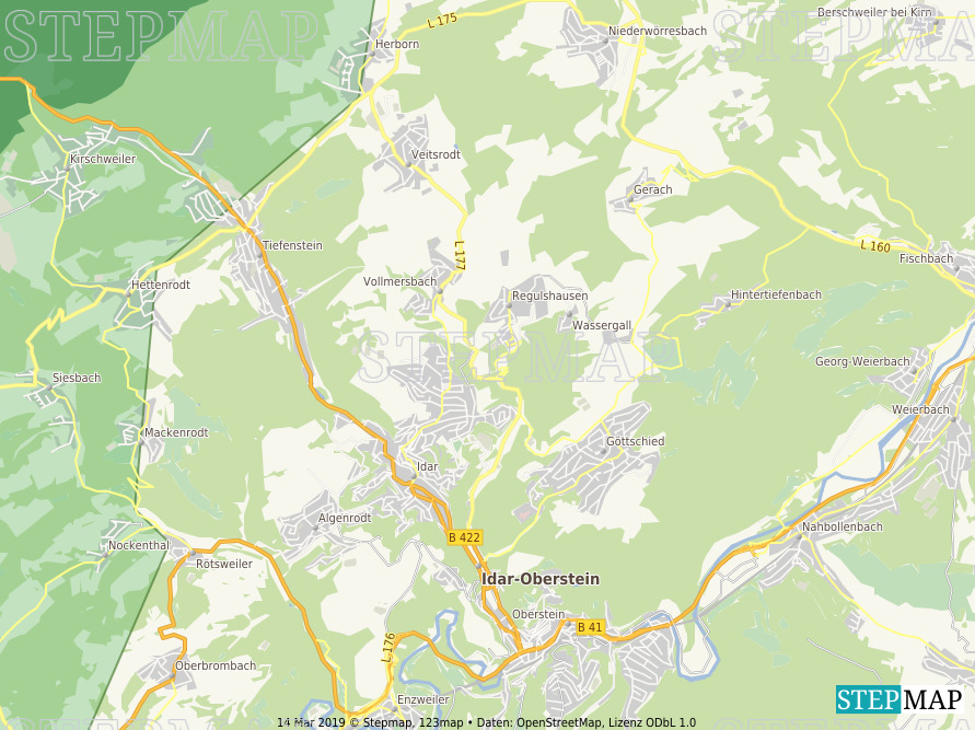 Landkarte: Idar-Oberstein