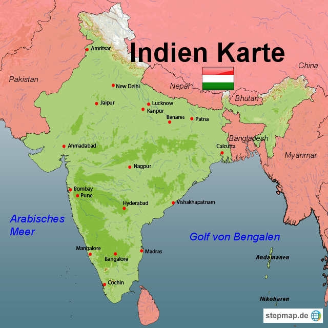 Indien Karte | Metro Map | Bus Routes | Metrobus Way Map | Train ...