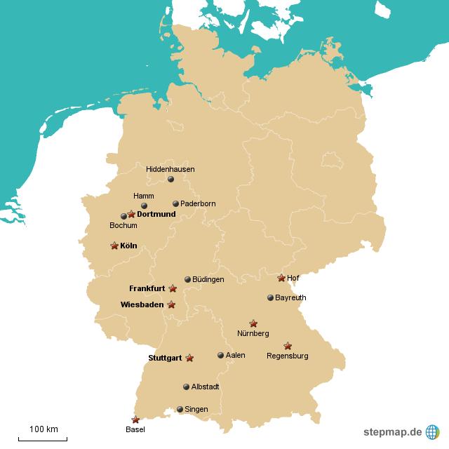 201509: Landkarte Für Deutschland