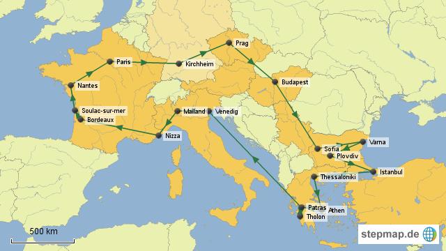 interrail karte Interrail Karte Europa   Kleve Landkarte