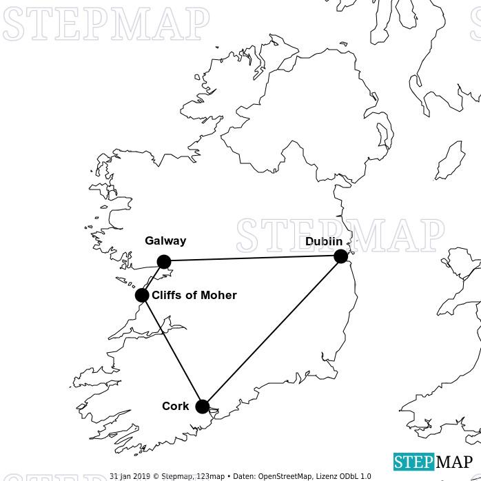 Landkarte: Irland 2019