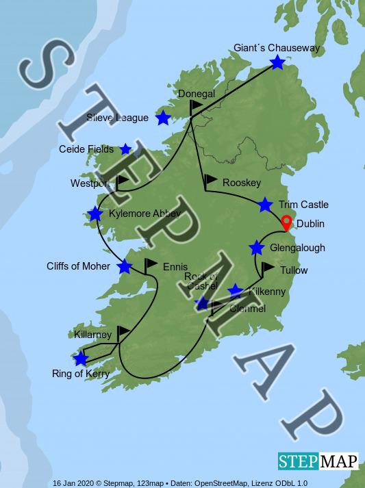 Landkarte: Irland