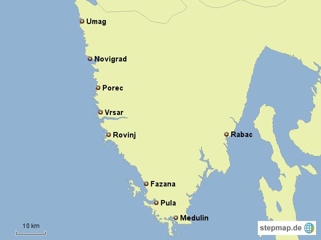 Kroatien Karte Istrien.Istrien Von Ihs Landkarte Für Kroatien