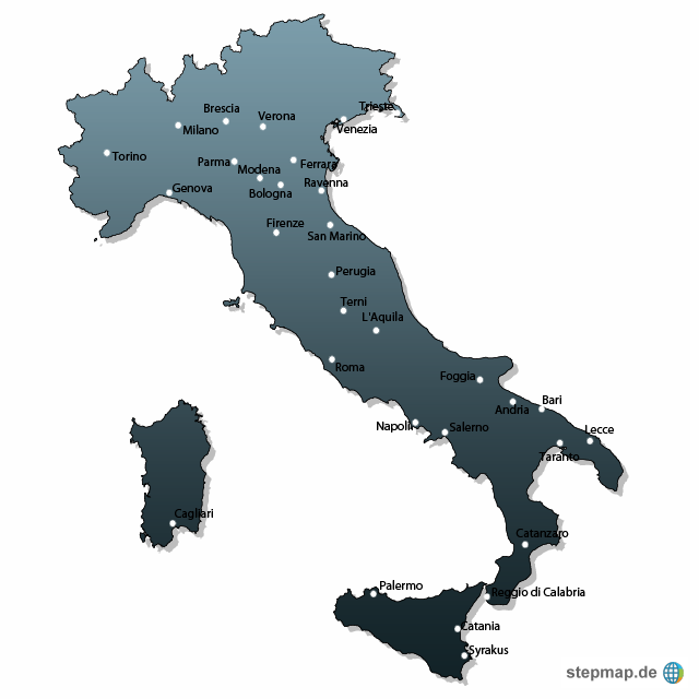 Startseite landkarten welt europa italien italien karten italien