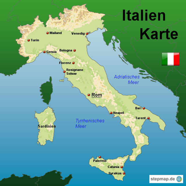 ITALIEN KARTE | Dictionary Bank ITALIEN KARTE