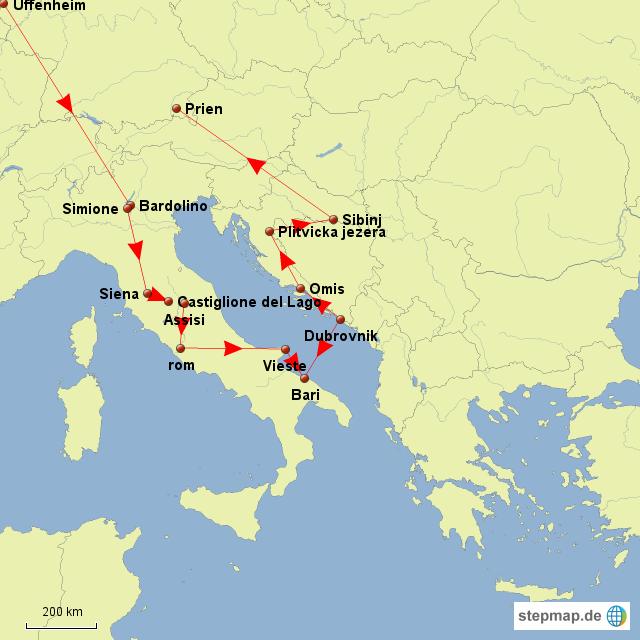 landkarte kroatien italien my blog. Black Bedroom Furniture Sets. Home Design Ideas