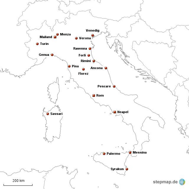 italien karte deutsch städte Italien LZK Städte von 1jojo1   Landkarte für Deutschland