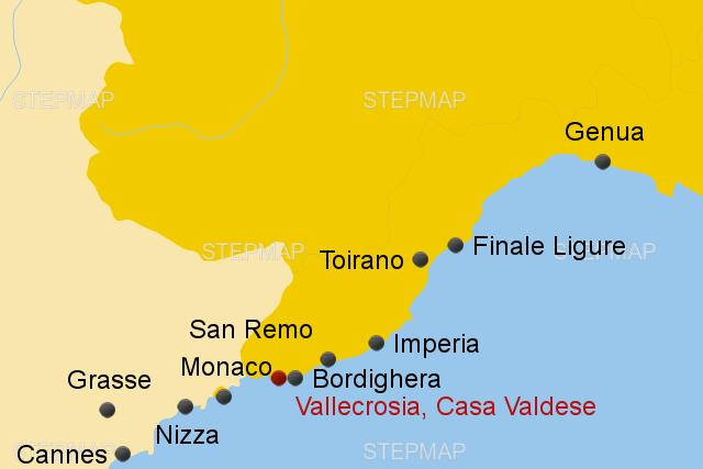 Monaco Italien Karte.Italienische Riviera Casa Valdese Von Alpetour Landkarte
