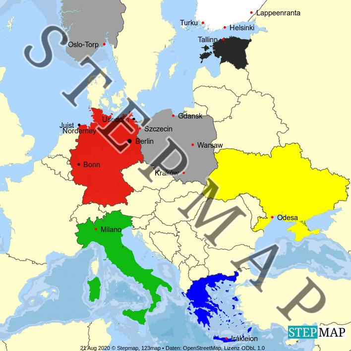 Landkarte: Jahrbuch 2020
