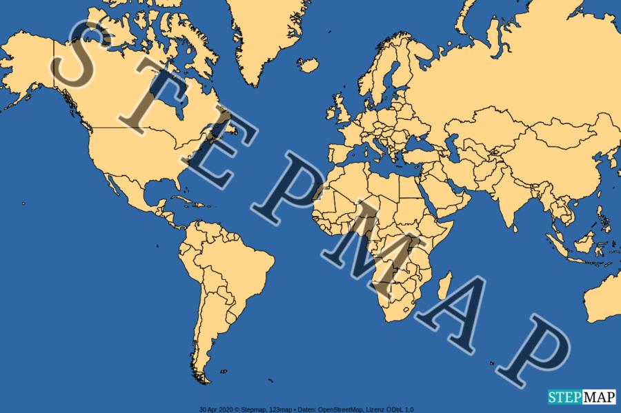 stepmap  jahreszeiten  landkarte für welt