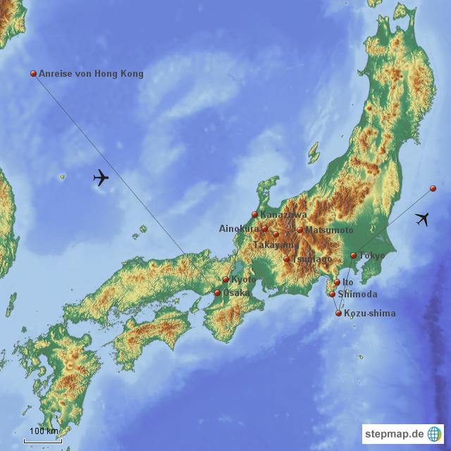 Japan Karte Physisch.Physische Karte Japan Filmgroephetaccent