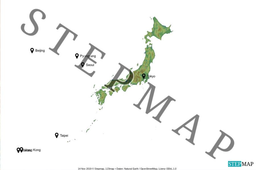 Landkarte: Japan
