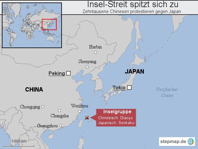 karte japan china Japan / China: Inselstreit spitzt sich zu von tlz_online