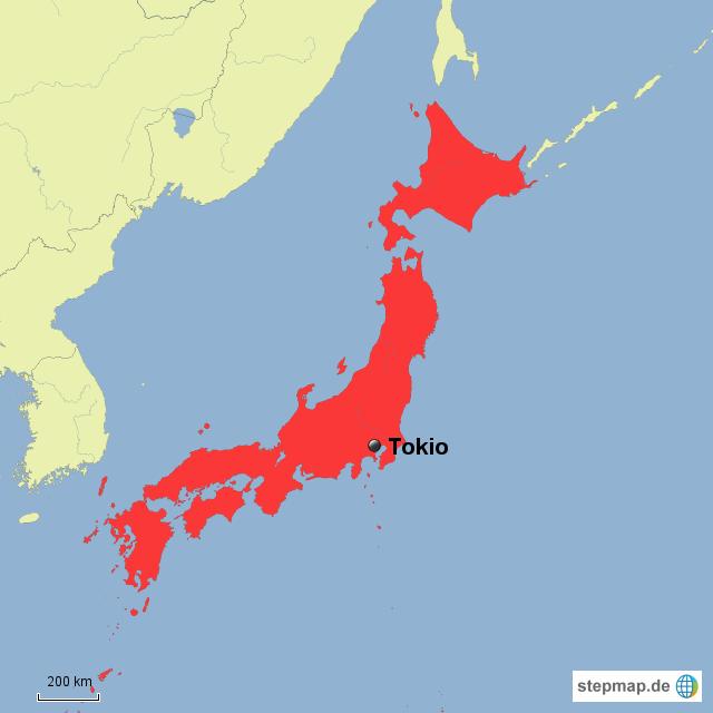 tokio karte Tokio Landkarte   Deutschland Karte