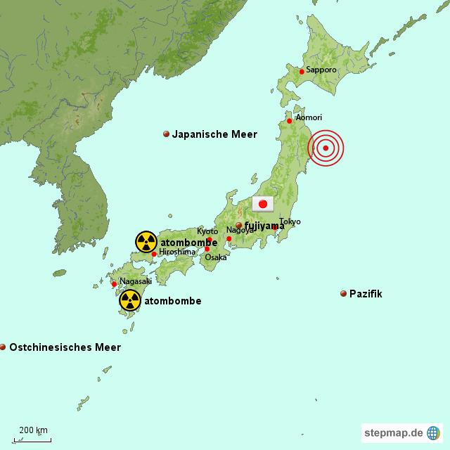 Japan Karte.Japanische Karte Naturkatastrophe Von Coskun Landkarte Für Japan