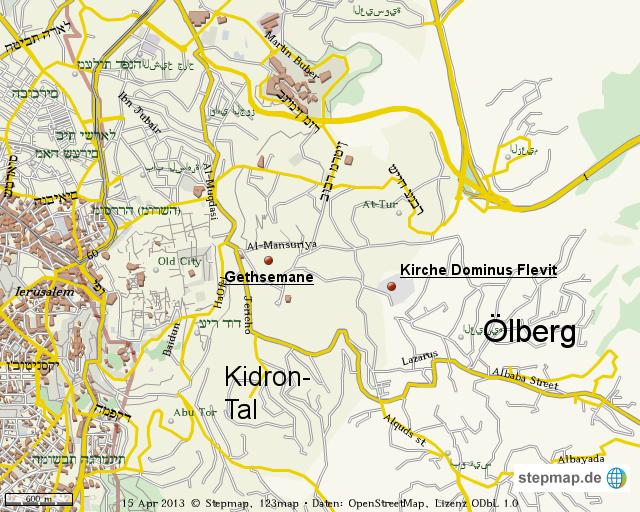 Jerusalem Karte Welt.Stepmap Jerusalem 1 Landkarte Fur Welt