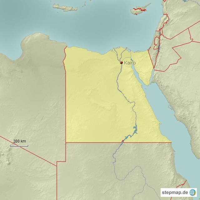Kairo Von Habr Landkarte F R Gypten