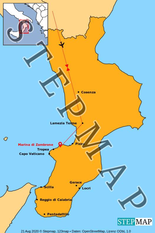 Landkarte: Kalabrien