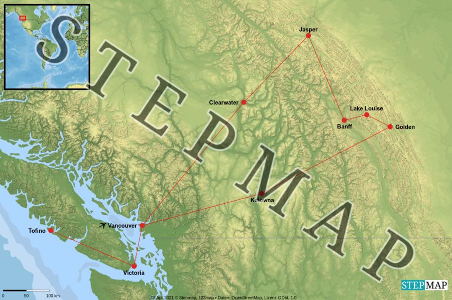 Landkarte: Kanada