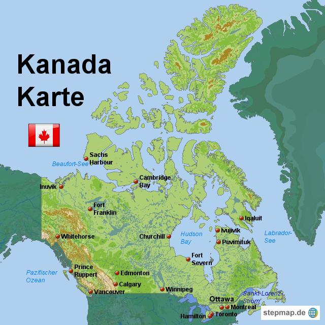 Startseite landkarten welt nordamerika kanada kanada karte