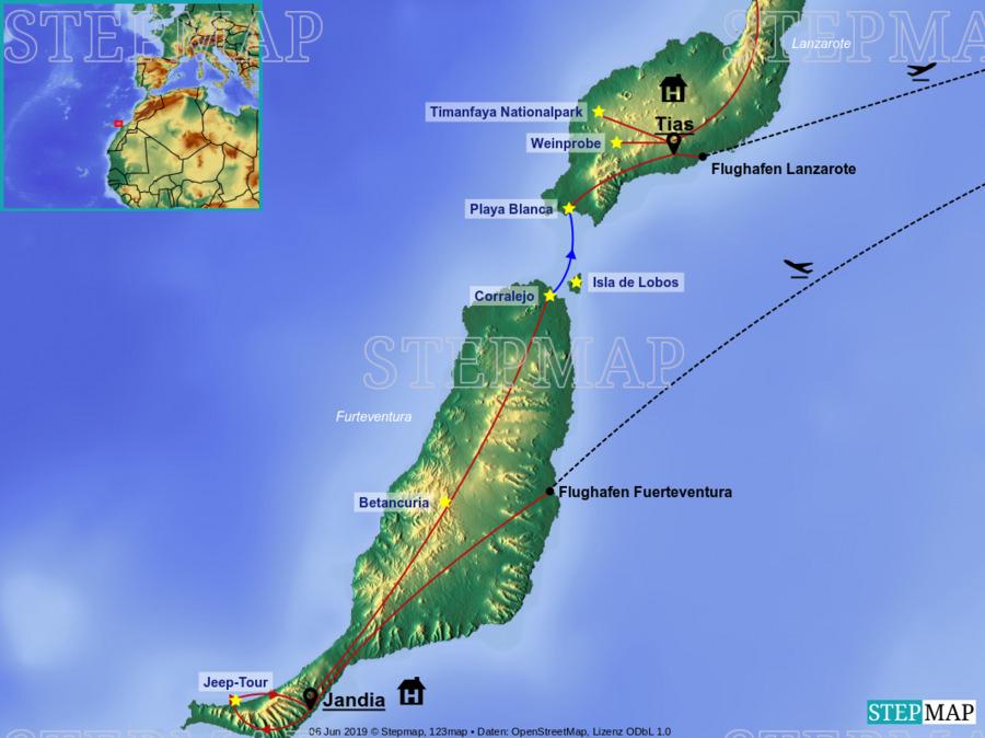Landkarte: Kanaren W&S