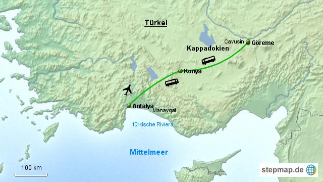 Karte Türkei Kappadokien.Kappadokien April 15 Von Astrid21 Landkarte Für Die Türkei