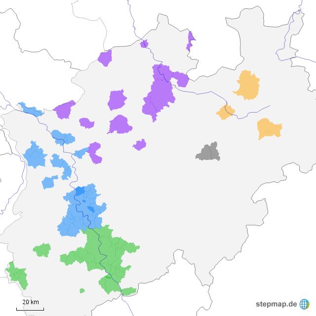 Karte Nrw Plz.Kappungsgrenzen Nach Plz Nrw Von Al Dmbnrw Landkarte Fur