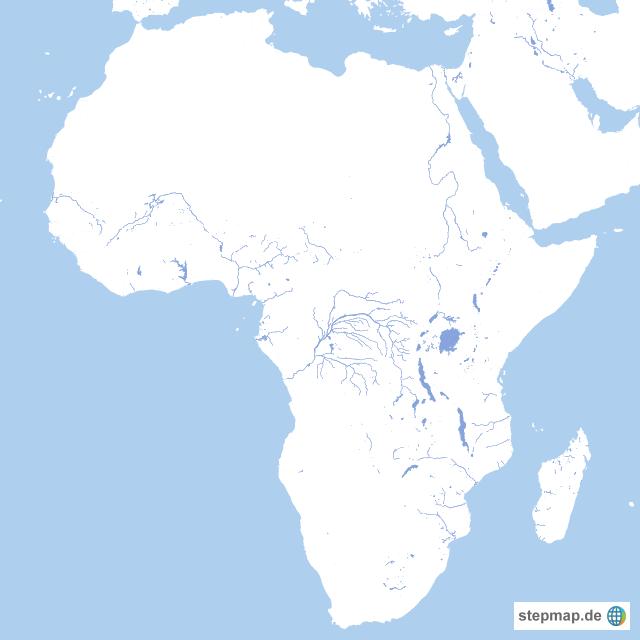 Karte Afrika.Stepmap Karte Afrika Nur Gewässer Landkarte Für Afrika