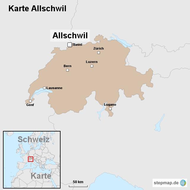 Karte Allschwil von ortslagekarteschweiz Landkarte fr die Schweiz