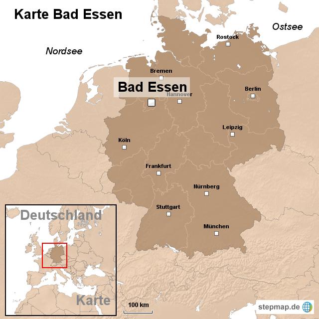 essen landkarte deutschland Karte Bad Essen von ortslagekarte   Landkarte für Deutschland