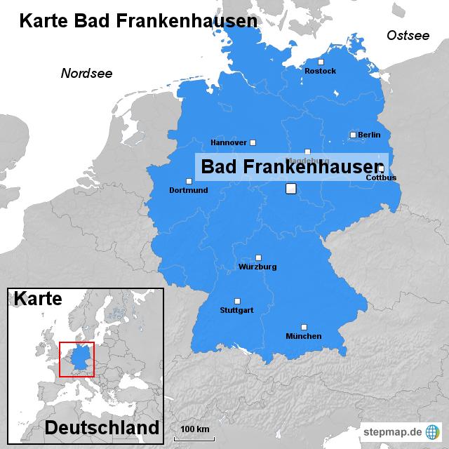 Karte Bad Frankenhausen Von Ortslagekarte Landkarte F 252 R