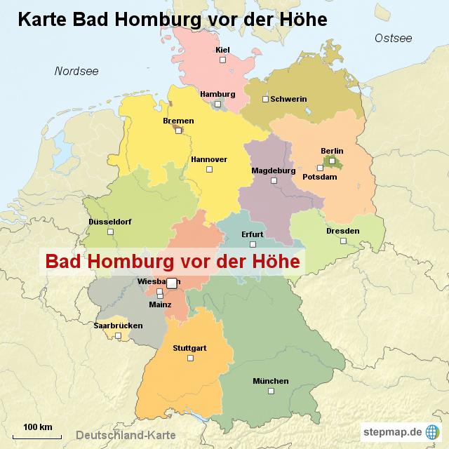 Karte Bad Homburg vor der Höhe von ortslagekarte  Landkarte für