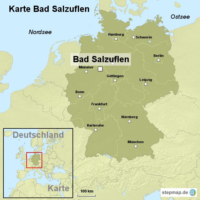 karte bad salzuflen von ortslagekarte landkarte f r deutschland. Black Bedroom Furniture Sets. Home Design Ideas