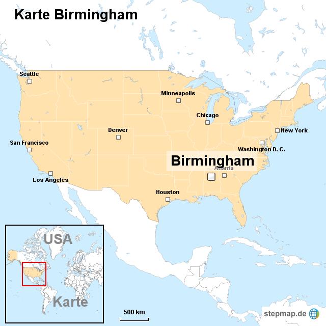 Birmingham Karte.Karte Birmingham Von Ortslagekarte Usa Landkarte Für Die Usa