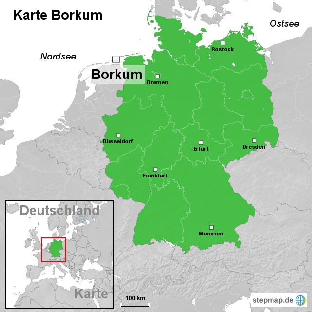 karte borkum von ortslagekarte landkarte f r deutschland. Black Bedroom Furniture Sets. Home Design Ideas