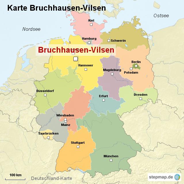 karte bruchhausen vilsen von ortslagekarte landkarte f r deutschland. Black Bedroom Furniture Sets. Home Design Ideas